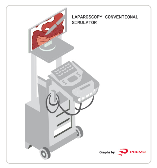 Laparoscopy conventional simulator