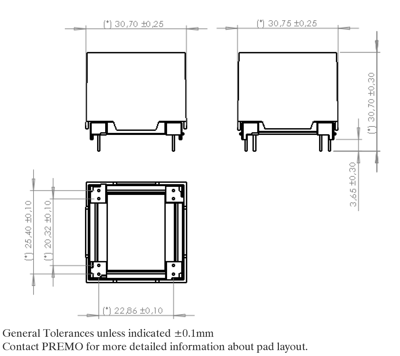3DCC20 pad layout
