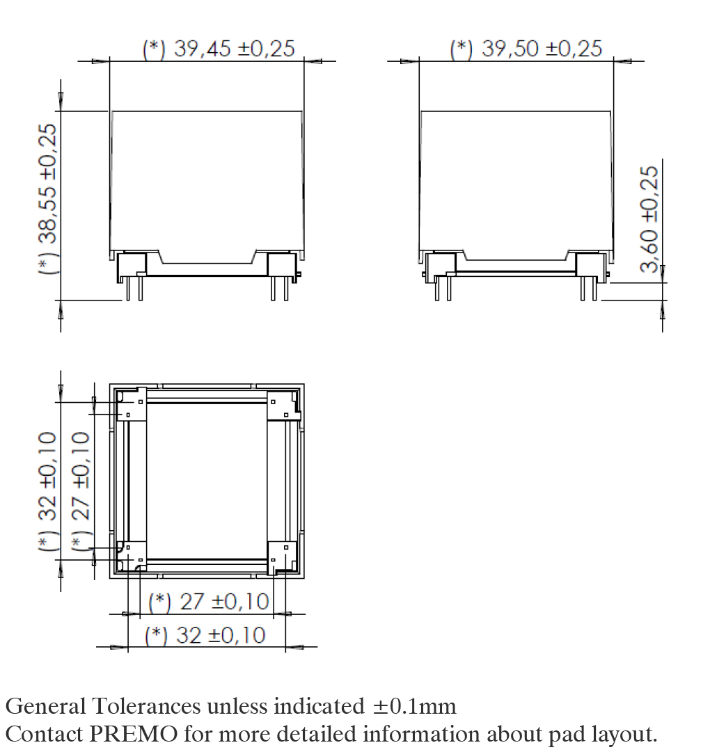 3D28LW pad layout