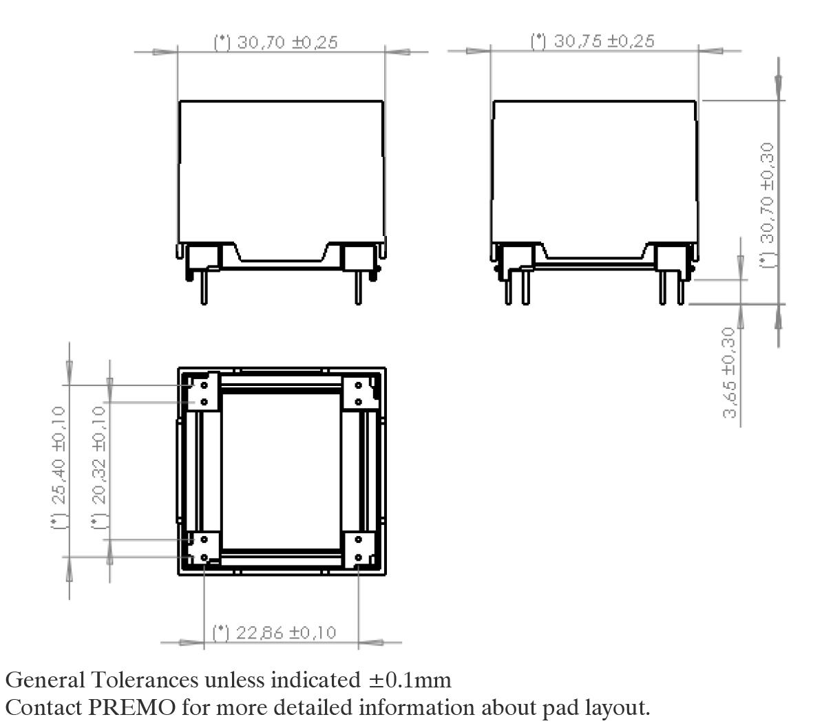 3D20LW pad layout