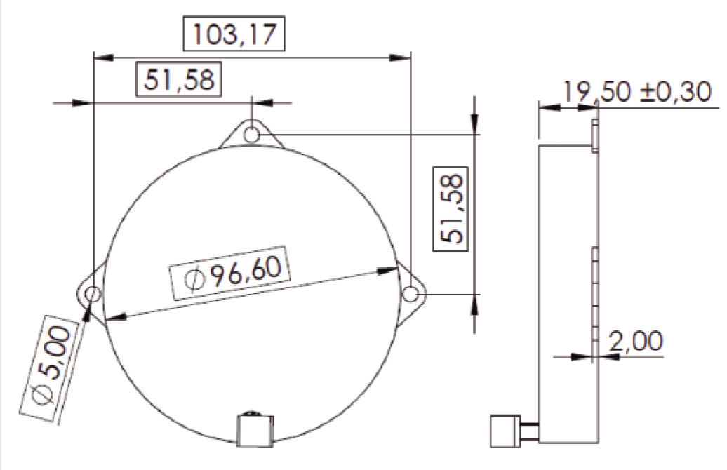 3DCD90 pad layout